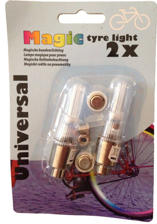 fietswielverlichting led meerkleurig bandenverlichting 2 stuks inclusief batterijen