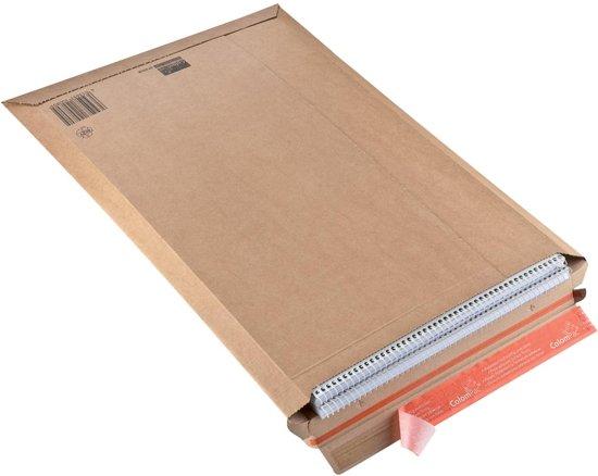 60x Colompac verzendenvelop CP010, 34x50x5cm, bruin