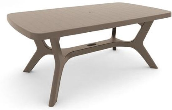 allibert tuintafel 39 baltimore 39 cappuccino 177 x 100 cm. Black Bedroom Furniture Sets. Home Design Ideas