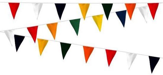Vlaggenlijn stof brandvertragend Vrolijke kleuren 12m