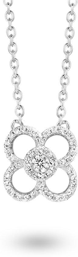 Velini jewels -CH6518W -Ketting -925 Zilver gerodineerd -Cubic Zirkonia 38+4 CM