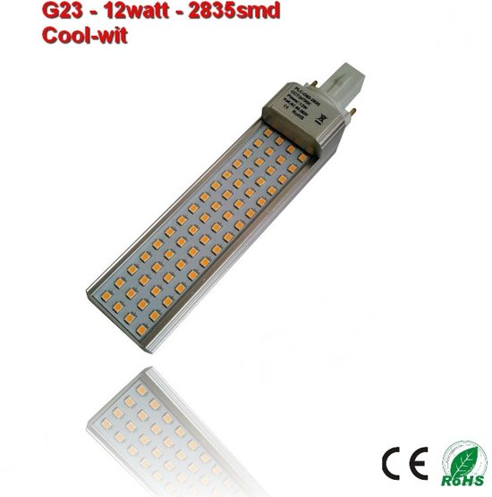 PL-G23-12w-2835smd Cool-Wit 1250 lumen