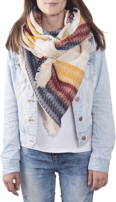 Sjaal 130*130 cm Rood   JZSC0371R   Clayre & Eef
