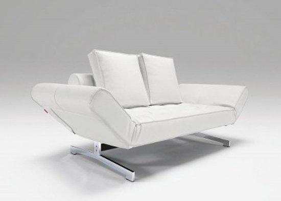 1 Persoons Slaapzetel.Bol Com Hioshop Slaapzetel Design Ghia Wit 90x210 Cm Met 2 Kussens