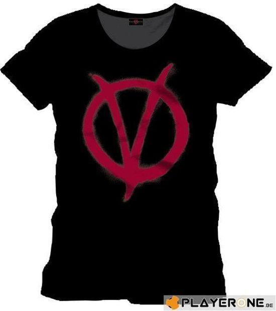 Bol V For Vendetta Red Symbol T Shirt M