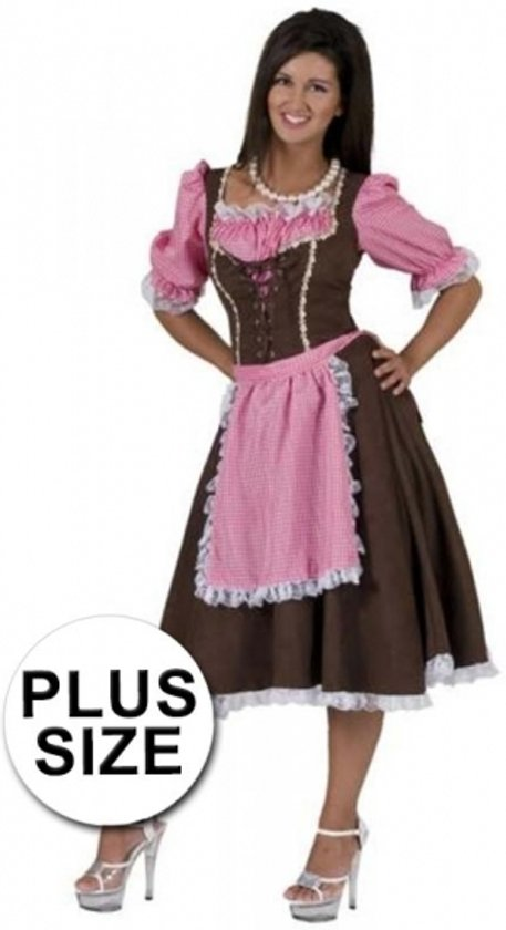 50a3ac32e17016 Oktoberfest - Grote maten klassieke Tirolerjurk Rosa 44-46 (2XL 3XL)