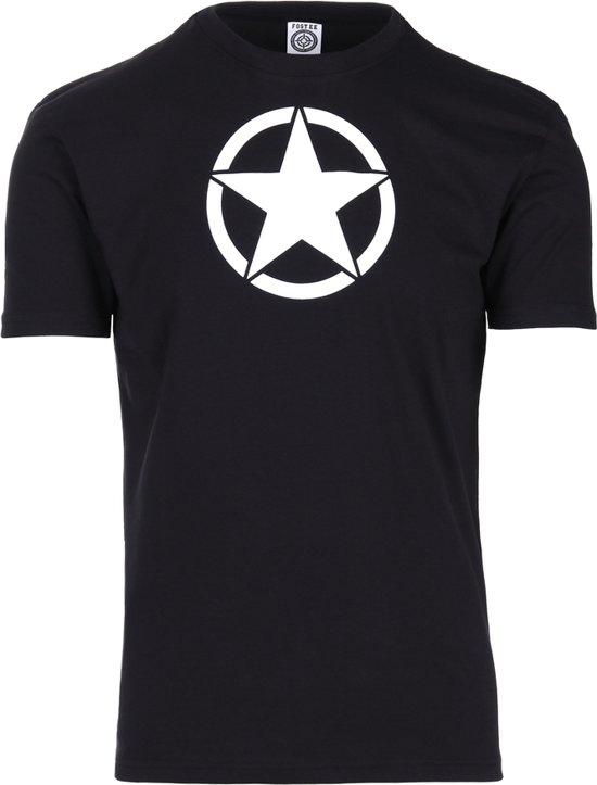 t-shirt met witte ster zwart