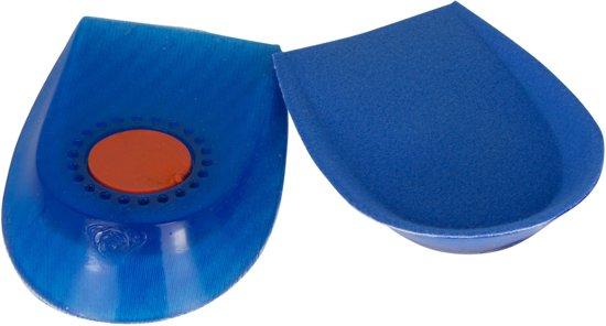 Secutex Gel Hiel Cup Kussens  Inlegzolen - Maat One size - blauw/oranje