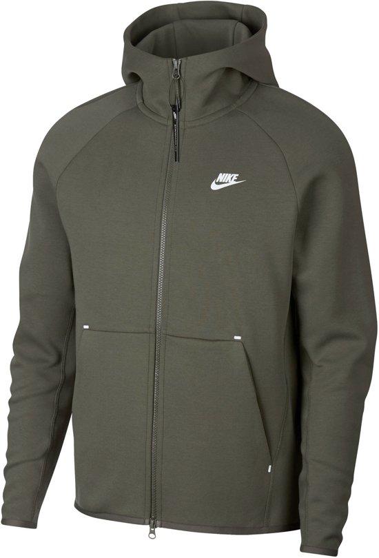 09e9232f598 Nike Sportswear Tech Fleece Hoody Sportvest casual - Maat S - Mannen - groen