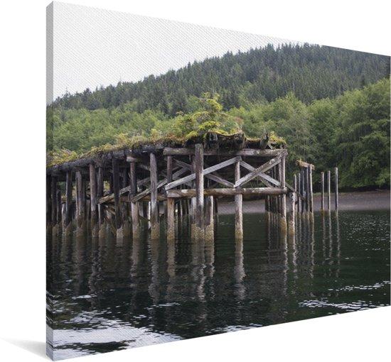 Geestpoort op Haida Gwaii in Canada Canvas 120x80 cm - Foto print op Canvas schilderij (Wanddecoratie woonkamer / slaapkamer)