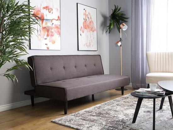 Beliani Visby 3-Zits bank Bruin polyester