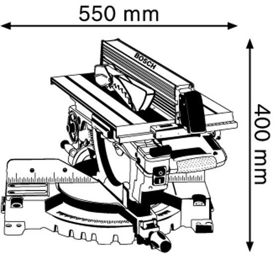 Bosch Professional GTM 12 JL Afkortzaag - 1800 Watt
