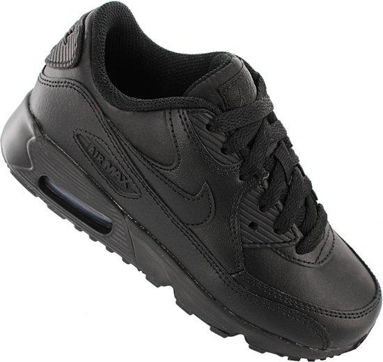 Nike Air Max 90 LTR 833414 001 Kinderen Sneaker Sportschoenen Schoenen Zwart Maat EU