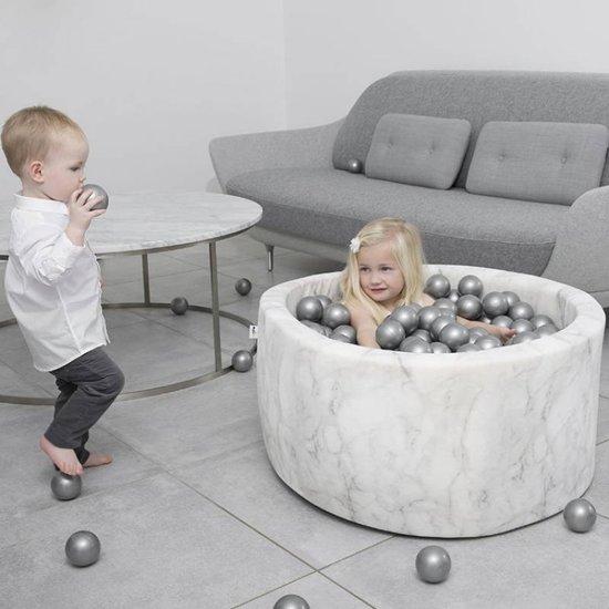 Misioo Ballenbad White Marble, incl. 200 ballen