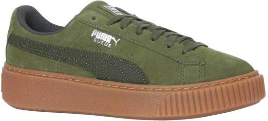8fe9c0bd groene puma sneakers suede platform animal ...