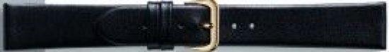 Horlogeband Universeel 081.01 Leder Zwart 6mm