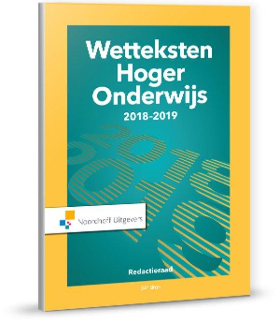 Boek cover Wetteksten hoger onderwijs 2018-2019 van Uittenbogaard (Onbekend)