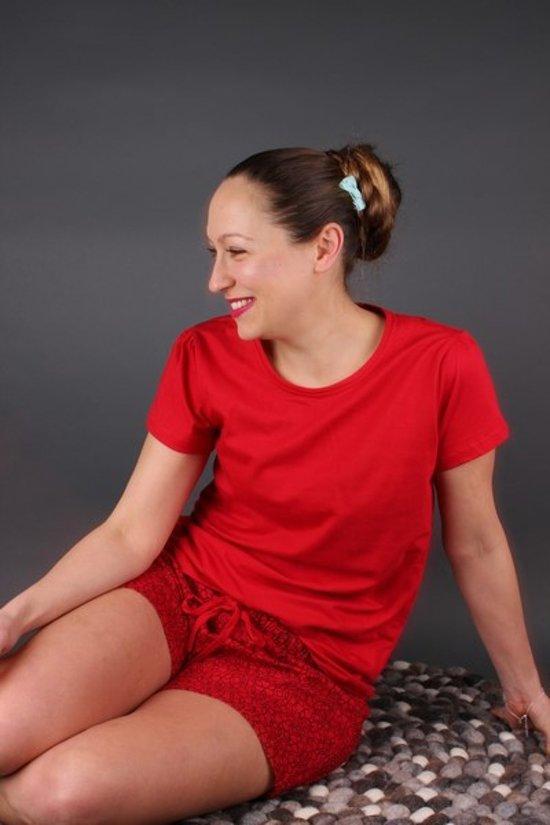 Vrouwen Pyjama Rood (Large)