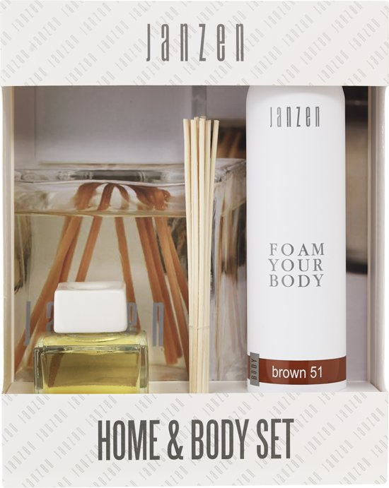 Janzen Home & Body Set Brown Giftset 2 st. - Brown