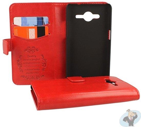 e205873815b bol.com | Samsung Galaxy Core 2 Portemonnee Hoesje - Classic Style Rood