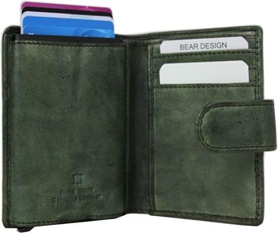 ac4270a2cfb Bear design / Figuretta Bear Design - Figuretta RFID Antiskim Wallet - Groen