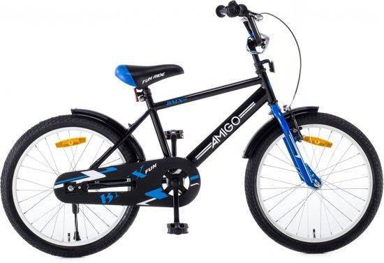 AMIGO - BMX Fun - Kinderfiets - 20 inch - Jongens - Zwart/Blauw