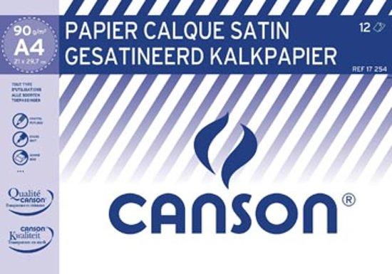 Canson kalkpapier 21 x 29,7 cm (A4), pak van 12 blad