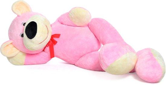 XXL teddybeer - roze - 180 cm