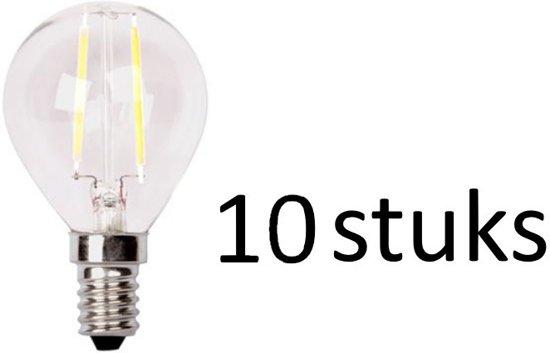 LED lamp 2W E14 Kogel   XQ1405 set van 10 stuks