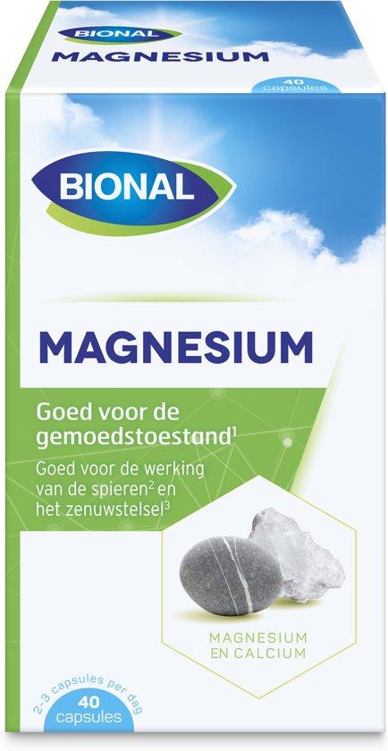 Bional Magnesium + Calcium - Bij vermoeidheid en spierpijn - 40 capsules