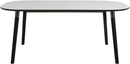 Zwarte Eettafel Uitschuifbaar.24designs Uitschuifbare Tafel Penny 180 280 X 100 Cm Ovaal Zwart