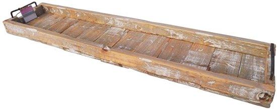 dienblad steigerhout rechthoek metalen grepen 98x20x9cm