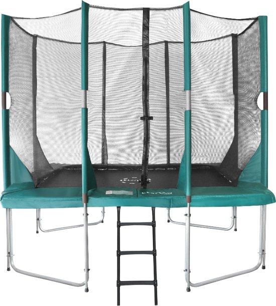 Etan Hi-Flyer Combi Trampoline set 281 x 201 cm - inc. Veiligheidsnet - Groen - Rechthoekig - Zeer veilig