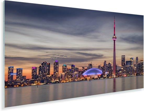 Horizon van de hoofdstad Toronto tijdens zonsondergang Plexiglas 40x20 cm - Foto print op Glas (Plexiglas wanddecoratie)