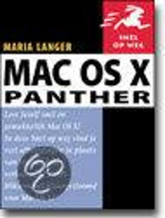 Cover van het boek 'Mac OS X Panther'