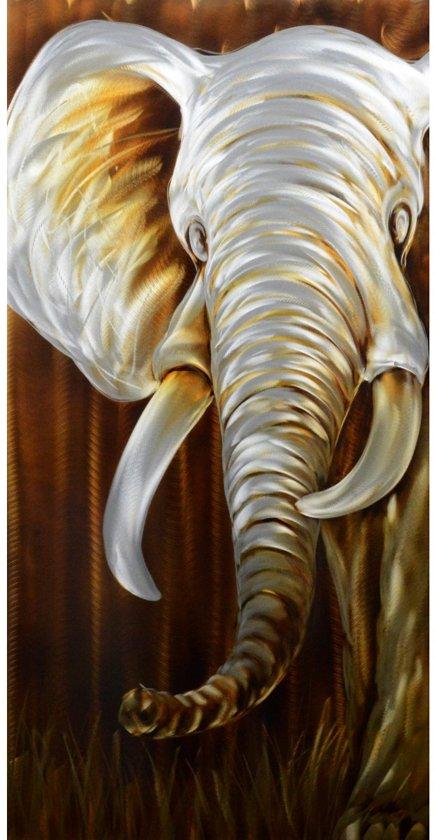 Schilderij olifant aluminium 50 x 100 artello for Schilderij olifant