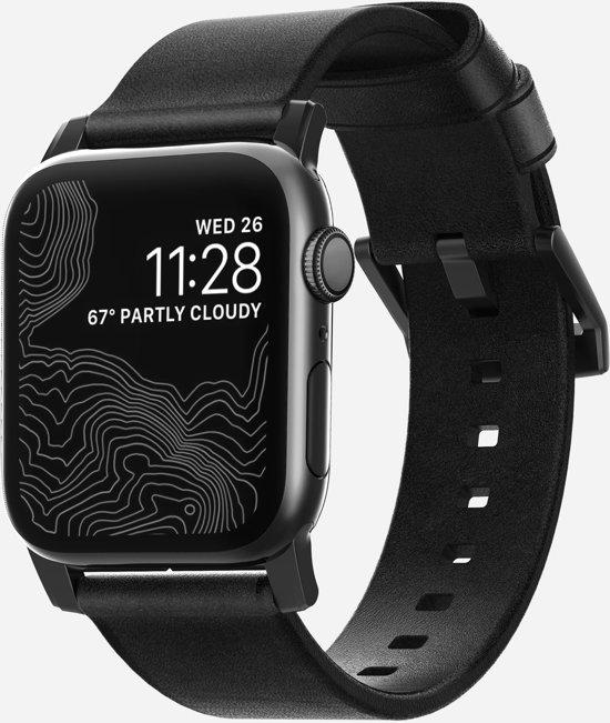 Nomad Strap - Modern - voor Apple Watch 44 & 42mm - Zwart
