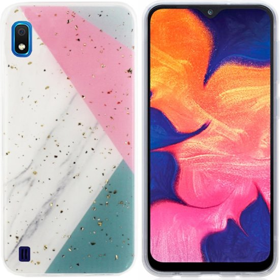 BackCover Marble Glitter voor Samsung A10/M10 Grijs
