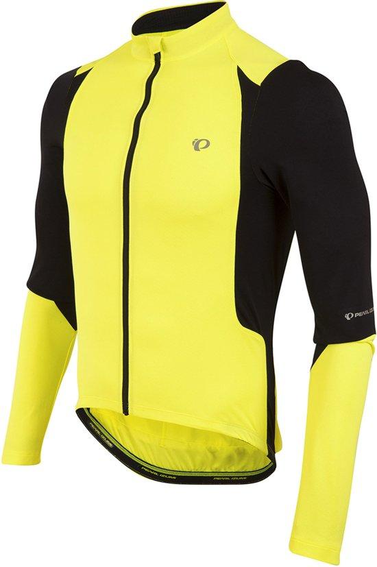 Pearl Izumi Select Pursuit Longsleeve  Fietsshirt - Maat L  - Mannen - geel/zwart
