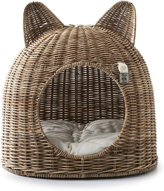 Riviera Maison Lovely Kitten Cat House - Dierenmand - Rustic Rattan