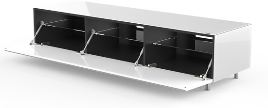 Design Tv Meubel Glas.Bol Com Spectral Just Racks Jrl1652s Sng Tv Meubel In Wit Glas