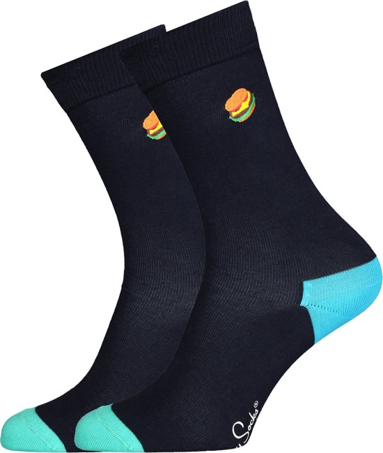 Happy Socks Hamburger Embroidery Socks, Maat 41/46