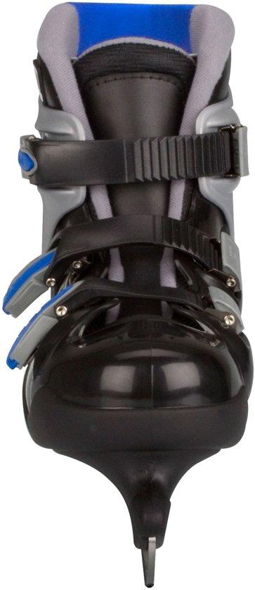 Nijdam 0089 IJshockeyschaats - Hardboot - Zwart/Blauw - Maat 45
