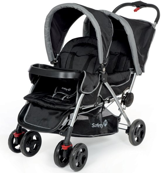 safety 1st duodeal duo kinderwagen full black. Black Bedroom Furniture Sets. Home Design Ideas