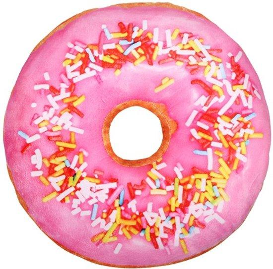 sprinkels donut kussen lichtroze 40 cm merkloos