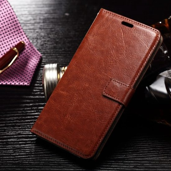 Cyclone bruin wallet case hoesje iPhone 7 Plus