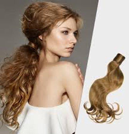 Balmain Catwalk Ponytail 50 cm.  soft curl. kleur AMSTERDAM Memory®hair