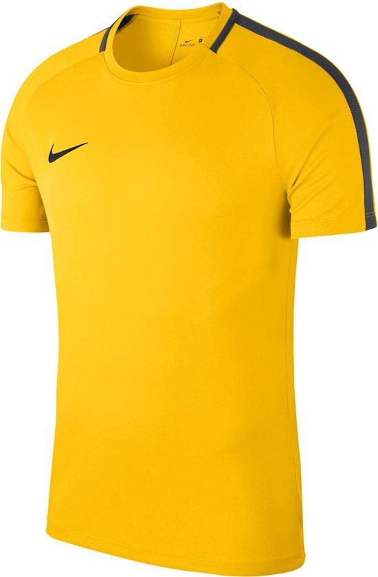 Nike Sportshirt - Maat M  - Unisex - geel/zwart Maat 140/152