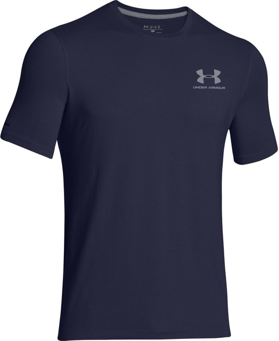 Under Armour Sportstyle Left Chest Logo  Sportshirt performance - Maat XL  - Mannen - donker blauw
