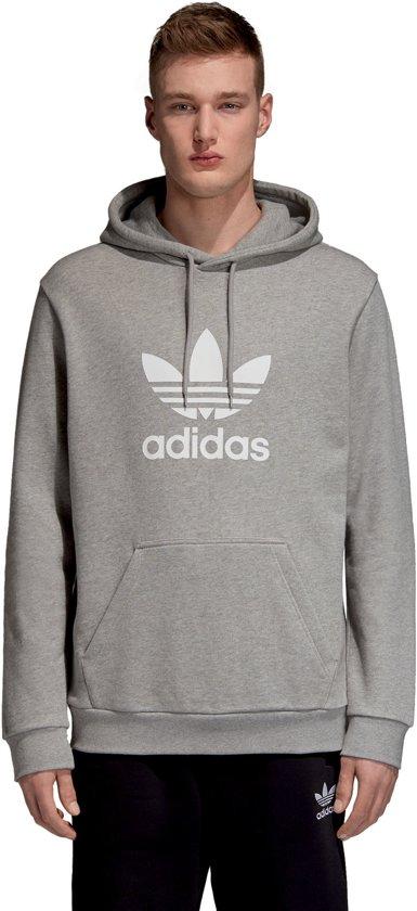 adidas Originals Trefoil Hoodie Heren Medium Grey Heather Maat S